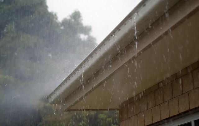 roof guttering rain